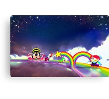 Rainbow Islands retro pixel art Canvas Print