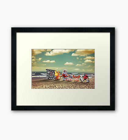 Cool Spot retro pixel art Framed Print