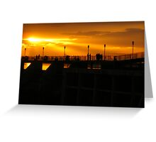 Sunset on the Dam Greeting Card