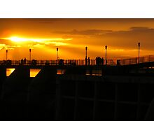 Sunset on the Dam Photographic Print