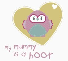 OWL SERIES :: heart - mummy is a hoot 2 by Kat Massard