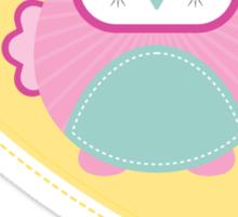 OWL SERIES :: heart - mummy is a hoot 2 Sticker