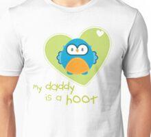 OWL SERIES :: heart - daddy is a hoot 3 Unisex T-Shirt