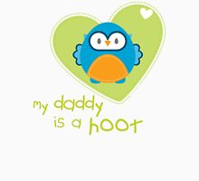 OWL SERIES :: heart - daddy is a hoot 3 Unisex T-Shirt
