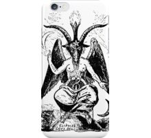 Satan Goat drawing iPhone Case/Skin