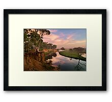 Peaceful dawn at Werribee Park Framed Print