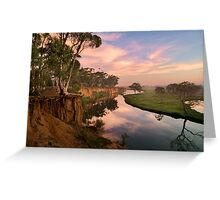 Peaceful dawn at Werribee Park Greeting Card