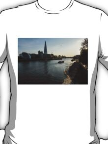 Sailing Up the Thames River in London, UK T-Shirt