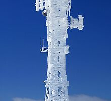 Communications tower at Mt Hotham, Victoria, Australia by Charles Kosina