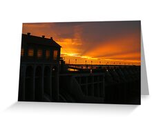 Lake Overholser Dam  Greeting Card