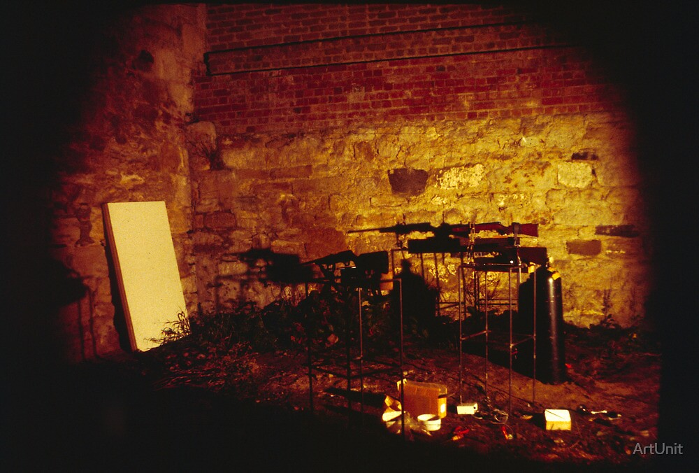 Performance art at ANZART in Hobart 1983 by ArtUnit