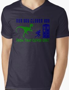Run Clever Boy, From That Clever Girl Mens V-Neck T-Shirt