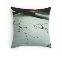 My Imaginary Friend, Mr. Wiggles Throw Pillow