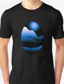 Blue Moon Mountain Landscape Art T-Shirt