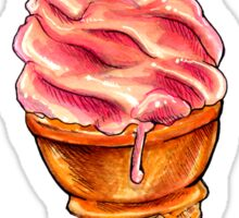 Strawberry Soft Serve Pattern Sticker