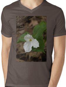 Spring Forest Walk Treasures - White Trillium Flower Mens V-Neck T-Shirt