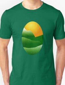 Mountain Sunrise Landscape Art T-Shirt