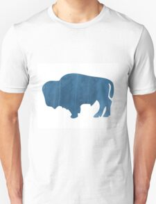 Blue Watercolor Buffalo T-Shirt
