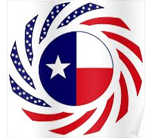 Texan Murican Patriot Flag Series Poster
