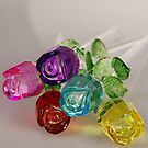 Glass roses bouquet by Caitlin Dickman