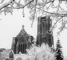 The Church of St. Mary/St. Paul in December by Kendall McKernon