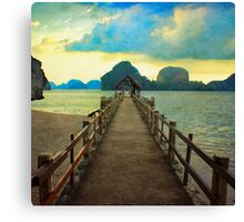 Thailand Dock Canvas Print