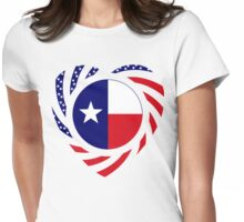 Texan American Murican Patriot Flag Series 2.0 Womens Fitted T-Shirt