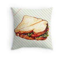 Lunch Room Sandwich Throw Pillow