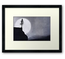Over The Edge Of The Wild Framed Print