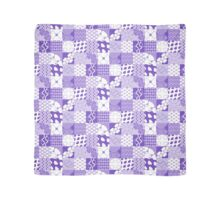 TILES [ purple & white ] Scarf