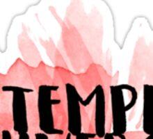 Temple Watercolor Text Sticker