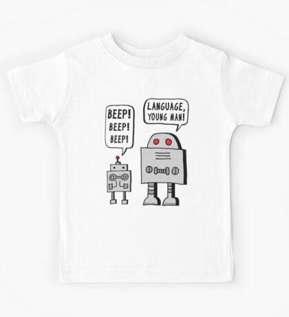 Beeping Robot Kids Tee