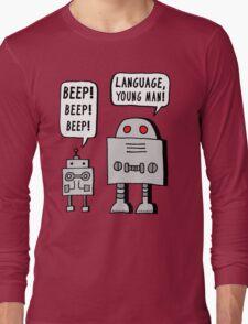 Beeping Robot Long Sleeve T-Shirt