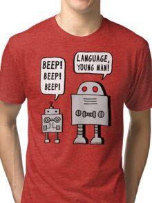 Beeping Robot Tri-blend T-Shirt