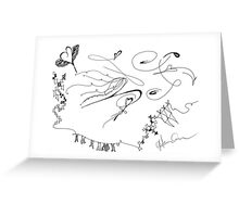 Black and White Love Kite Greeting Card