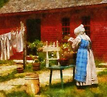 Laundry - Washing Clothes by Mike  Savad