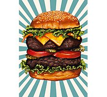 Double Cheeseburger Photographic Print