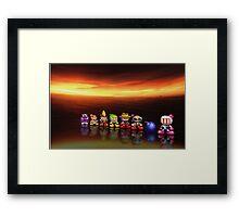 Bomberman - Panic Bomber pixel art Framed Print