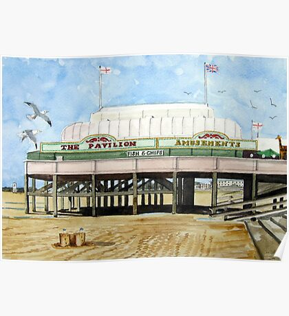 """Britain's Shortest Pier"" - Burnham-on-Sea Poster"