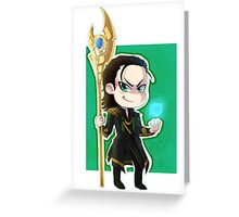 Chibi Loki Greeting Card