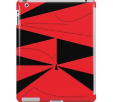 Red and Black Abstract iPad Case/Skin