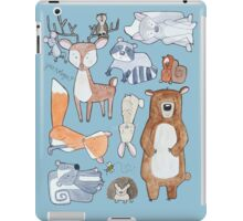 Woodland Creatures Collage iPad Case/Skin