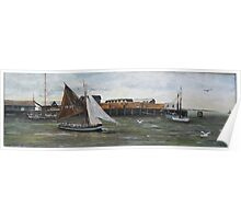 Boat Leaving Whitstable Harbour Poster