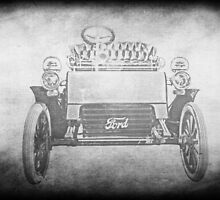 1903 Model A in Black and White by Kadwell