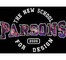 Parsons - the new school for design firework print Photographic Print