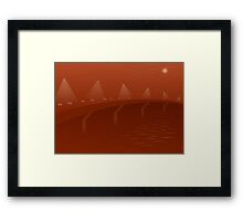 Four Bridges Smog Framed Print