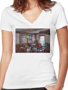 Pharmacist - Pharmacist from the 1880's  Women's Fitted V-Neck T-Shirt