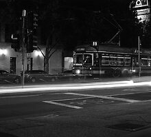 Melbourne Tram at Night by DonovanTM