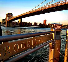 rivers run. dumbo, new york  by tim buckley | bodhiimages