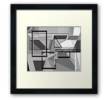 Gray Geometry Framed Print
